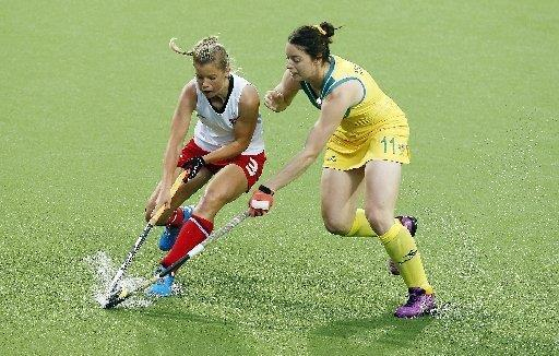 Sophie Bray in action in the final against Australia. Picture by Ady Kerry