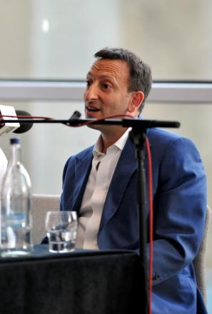 Tony Bloom speaking at last night's forum. Picture by Tony Wood