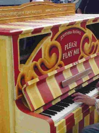 Station piano strikes chord with travellers