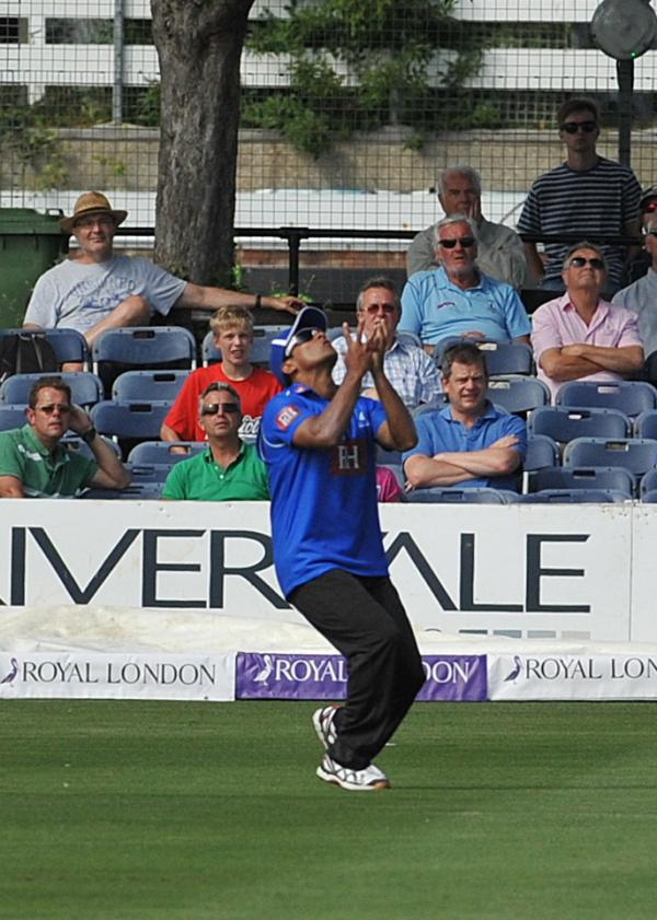 Yasir Arafat takes a catch