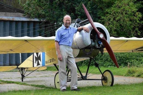 Commercial pilot Mike Clark has built a three quarter size replica of an old German fighter