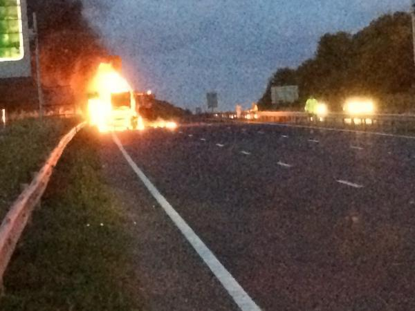 Tractor Fire on A27