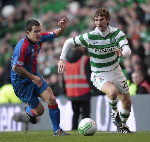 Paddy McCourt in action for Celtic