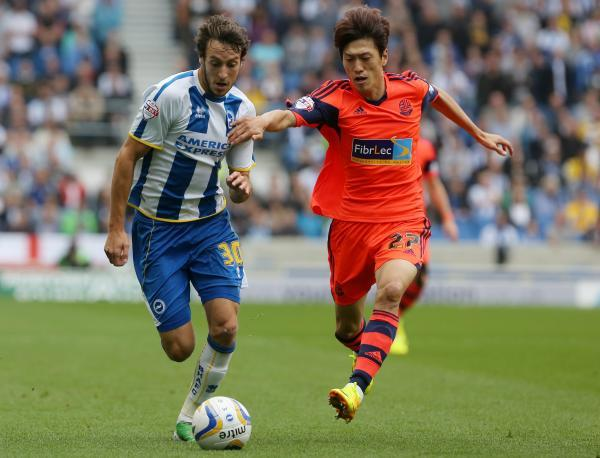 Will Buckley in action for Albion