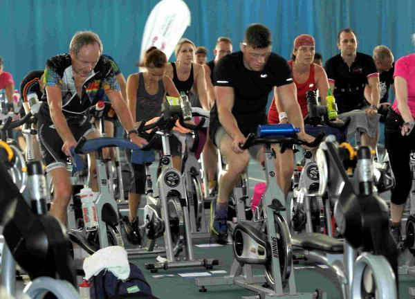 PEDAL POWER: The riders are put through their paces