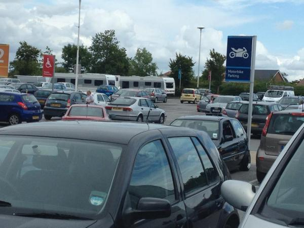 Travellers in the Tesco car park in Burgess Hill