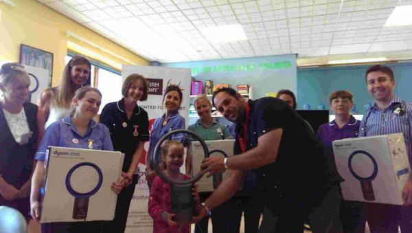 Andy Sparsis has donated desk fans to the children's ward at Worthing Hospital