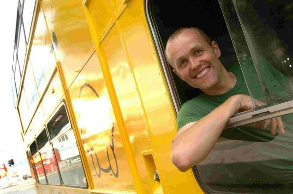 Tom Druitt, owner of The Big Lemon eco bus company