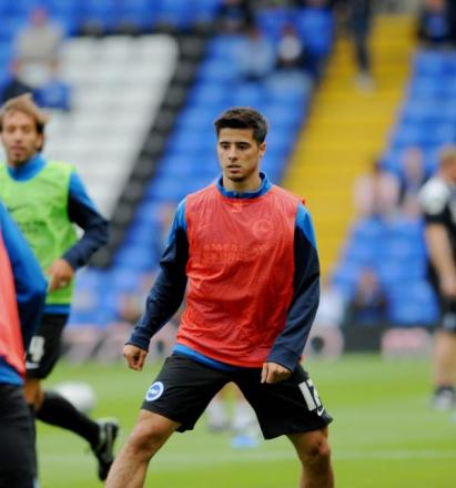 Joao Teixeira warms up at St Andrew's