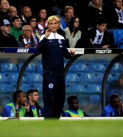 Sami Hyypia watches the win at Leeds