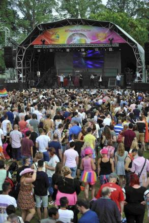 Pride organisers are celebrating after smashing their fundraising record
