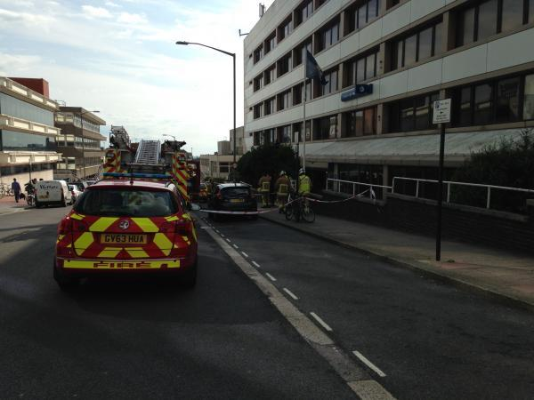 Firefighters in John Street, Brighton