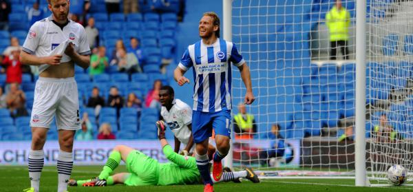 Craig Mackail-Smith is delighted after his goal