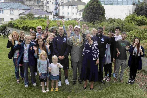 The Mayor of Brighton and Hove reopens the Friends of Brighton and Hove Hospitals Trust garden