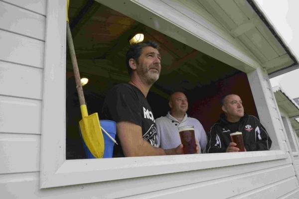 Beach ball – footy club uses huts for hospitality