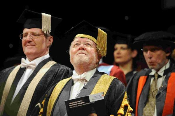 Lord Richard Attenborough at the University of Sussex summer graduations