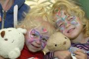 Maisie, two, and Ella Bartholomew, three, at the Teddy Bears picnic at Borde Hill Gardens in aid of Chestnut Tree Hospice