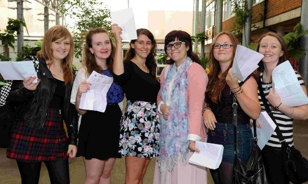 From left, Megan Carlton, Lauren Burnyeat, Elizabeth Aloof, Victoria Aloof, Lucy Barden and Laura Dunkerton, from Longhill School