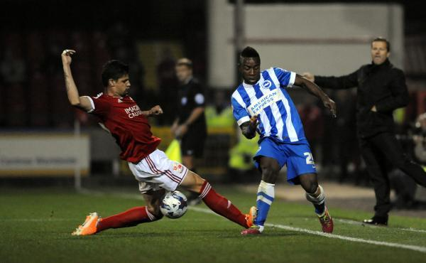 Branco's tackle on LuaLua, captured by Argus photographer Simon Dack