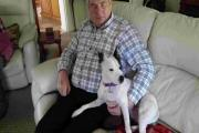 Tim White with Poppy, who has been his sole companion since his wife passed away