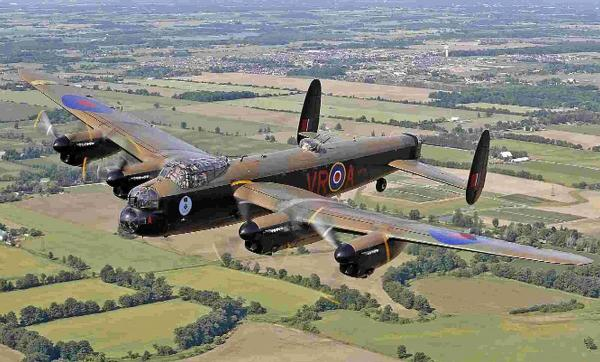 A Lancaster from a Canadian warplane museum