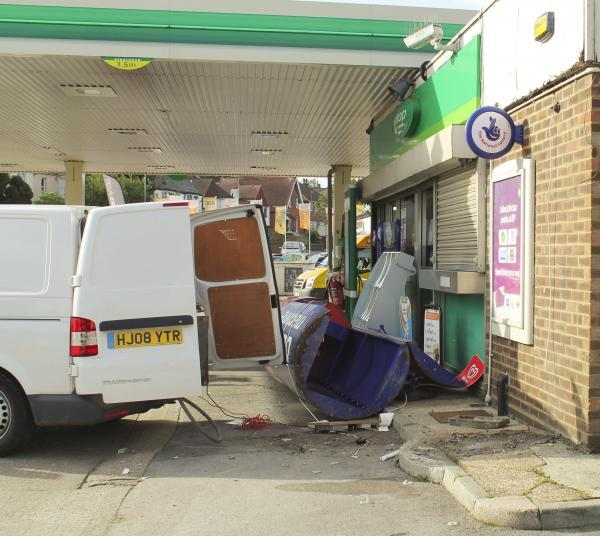The site of the attempted cash machine grab