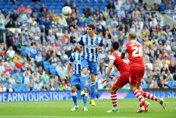 Lewis Dunk heads home his second goal