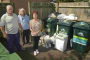 Eddie Akehurst, Catherine Dick and Pat Warner, of Everest House, Hove, waited five weeks for their bin collection