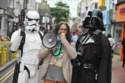 Gordon Vader helps spread the Geek Central word – with two helpers