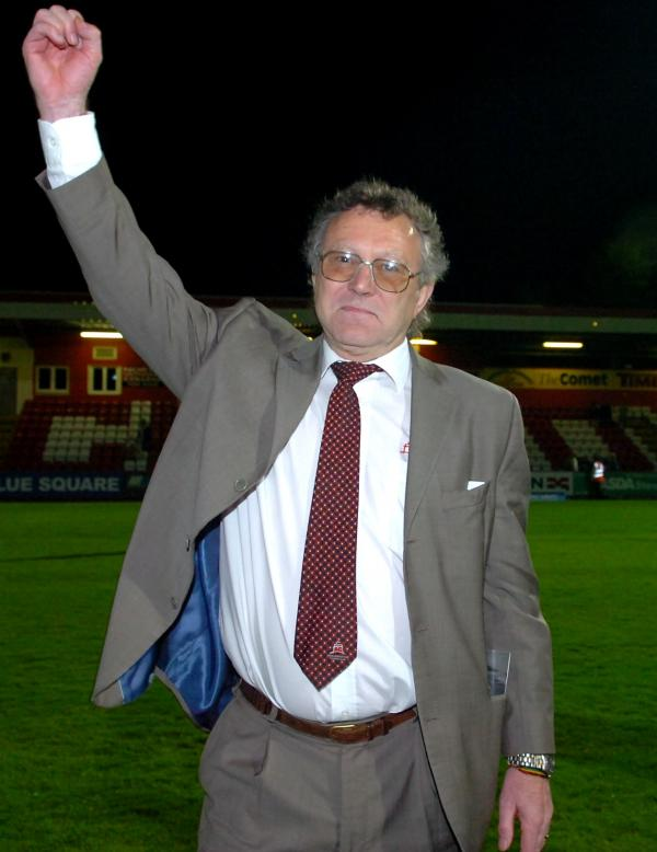 Len Smith presided over Eastbourne Borough's remarkable rise