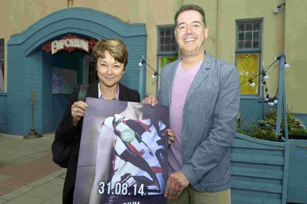 Former Dr Who assistant Janet Fielding with Matt Evenden at Emporium, London Road, Brighton