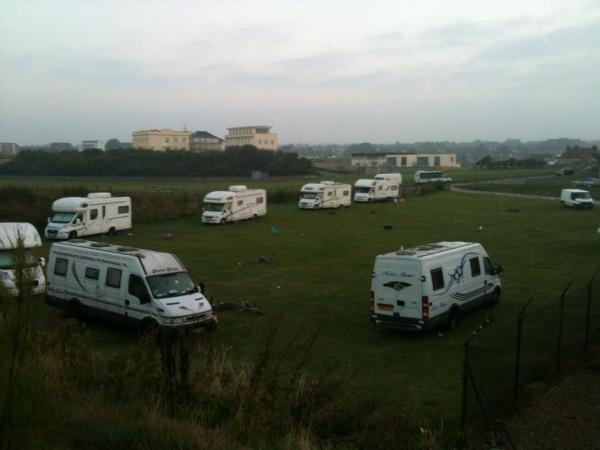 The campervans in Seaford this morning - picture Terry Purcell