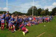 Juniors gather on the Hove rugby pitches, which have been deemed too dangerous by the RFU