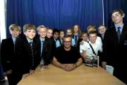 Author and comedian Charlie Higson was at Chatsmore Catholic High School in Worthing to talk about his new book