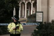 Officer at the scene at Pavilion Gardens this morning