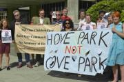 Hundreds of concerned Greens turned up at Hove Town Hall to protest