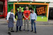 The owners and staff of the Curry Leaf Cafe in Brighton. Picture: Sam Stephenson