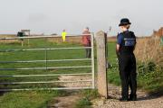 A PSCO at the entrance to the Beacon Hill off Sheep Walk Rottingdean.  Picture: Liz Finlayson