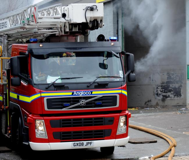fuse box bursts into flames and firefighters fight blaze for two and a half  hours