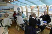 Customers enjoying the food at Into the Blue, Shoreham
