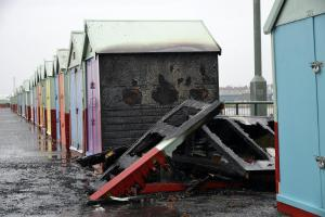 WITH VIDEO: Beach hut destroyed by fire from handyman's dropped cigarette