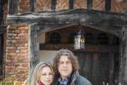 Alan Davies with his Jonathan Creek co-star Sarah Alexander