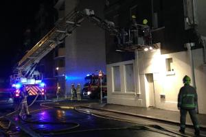 Fire takes hold at historic seafront bath house