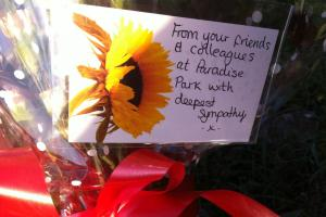 Roadside tributes to Paradise Park worker