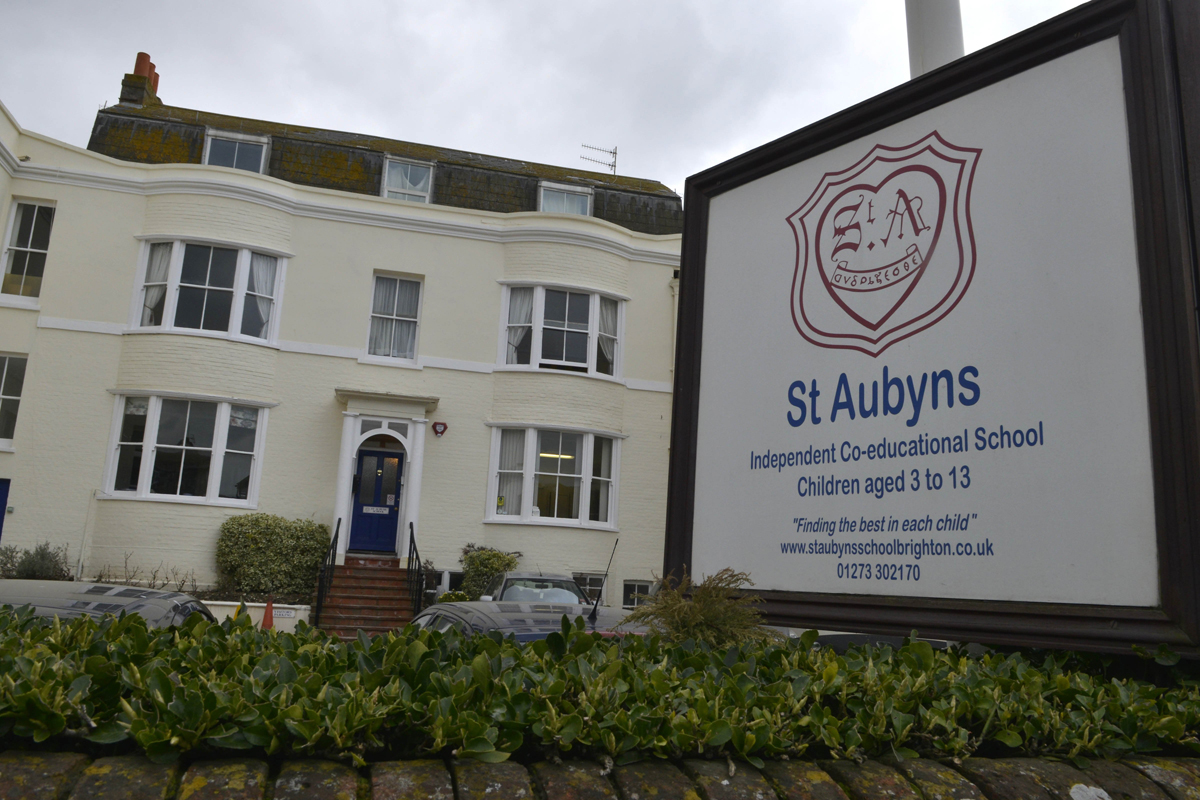The former St Aubyns School site in Rottingdean