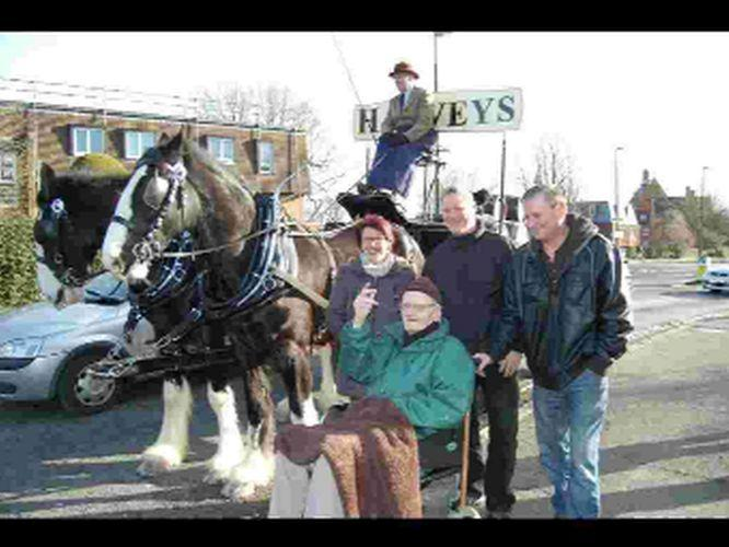 Mr Garwood and his family with the Harveys horses