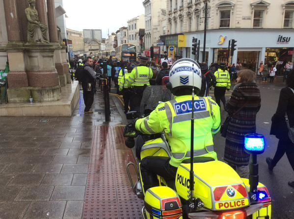 "January 31st: ""VOCAL protestors brought Brighton city centre to a standstill as…"
