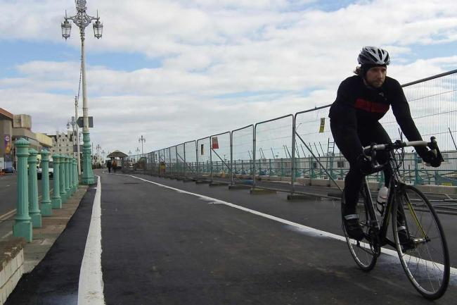 Brighton cyclists can enjoy seafront route unimpeded for first time since 2012