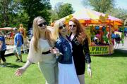 From left, Alina, Julia and Anna at Hove Carnival, organised by Hove Lions Club, which is closing its doors after 60 years