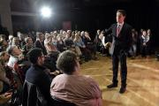 Ed Miliband answers questions.  Picture: Terry Applin